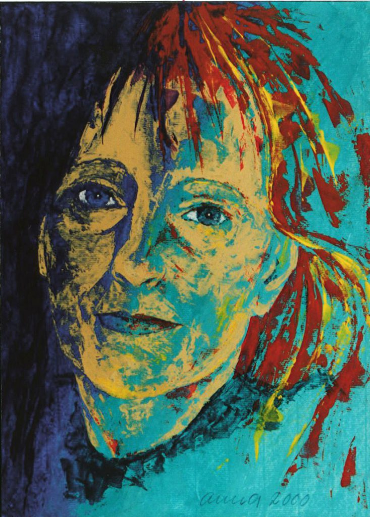 Bild, Acryl auf Leinwand: Selbstportrait