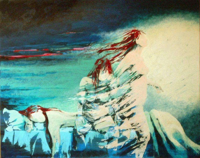 """Bild: Acryl auf Leinwand, Titel """"Aufbruch"""""""