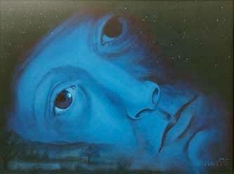 Bild Acryl auf Leinwand: Mondnacht