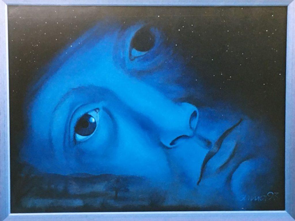 """Bild: Acryl auf Leinwand, Titel """"Vollmondnacht"""""""