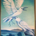 Bild, Öl auf Leinwand: Weiße Raben