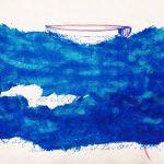 """Collage aus farbigem Papier, Titel """"Zwischentöne 1"""""""