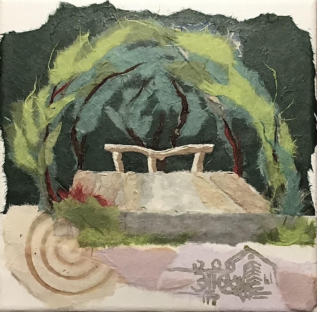 Amphitheater an der Heerser Mühle (Papiercollage)