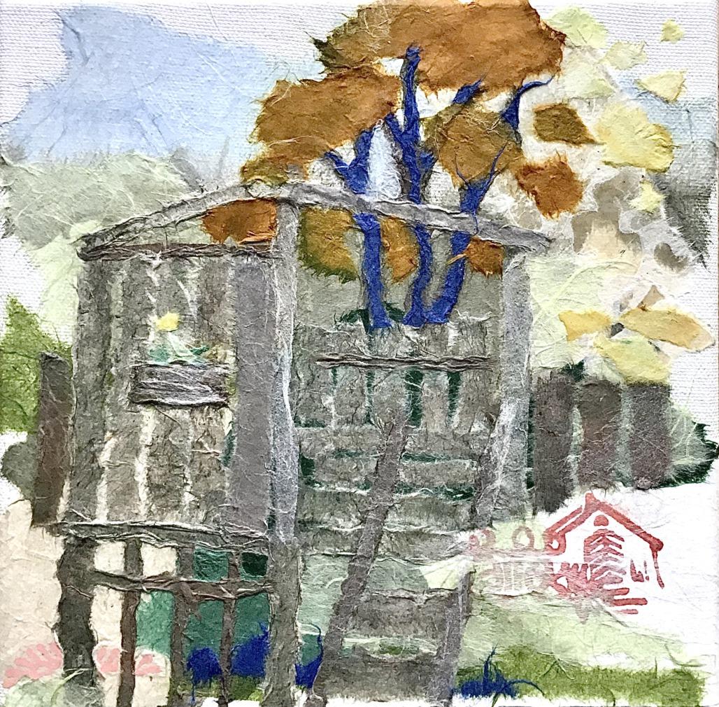 Arche an der Heerser Mühle (Papiercollage)