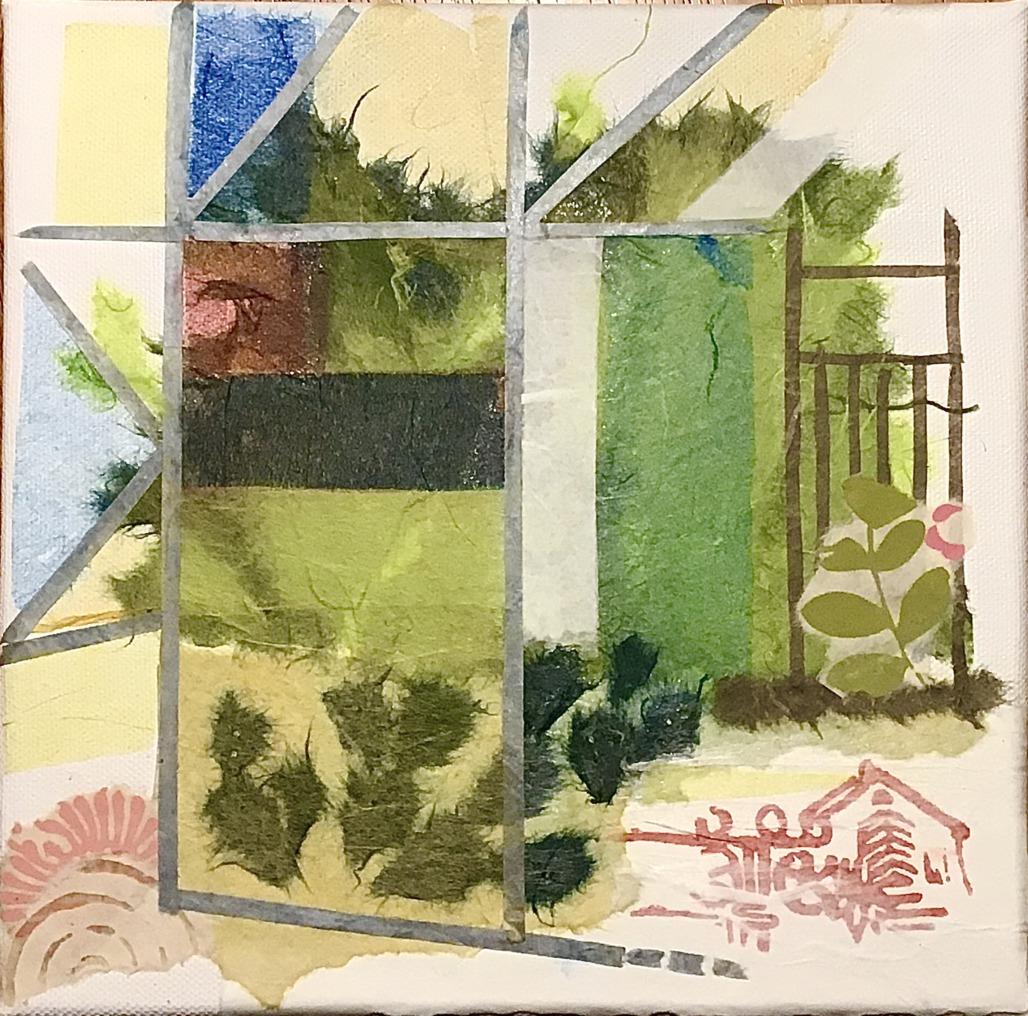 Glashaus (Papiercollage)