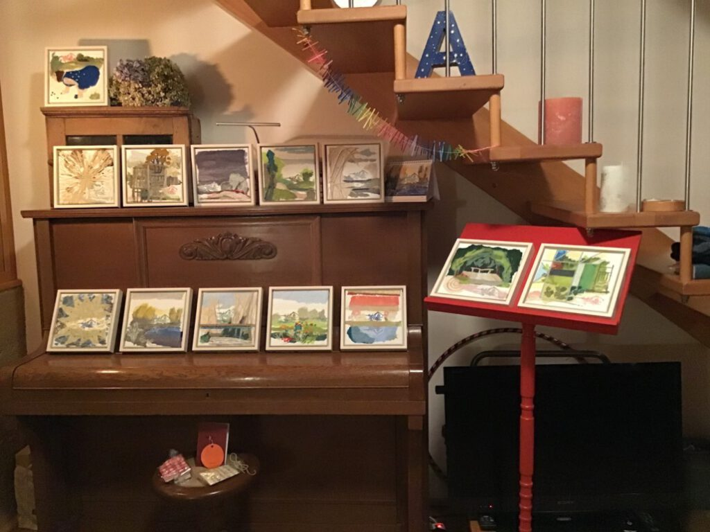 Ausstellung im Wohnzimmer